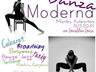 Danza Moderna, ¿ qué trabajaremos?