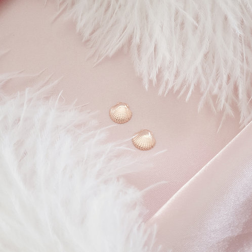 Rose Gold Plated Shell Earrings