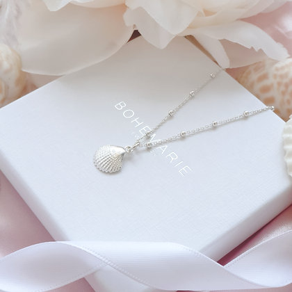 Sterling Silver layering shell necklace