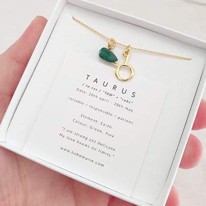 Gold Plated Taurus Necklace