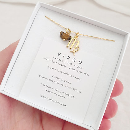 Gold Plated Virgo Necklace