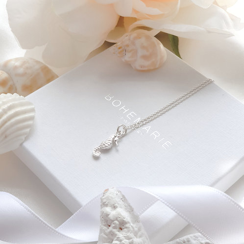Sterling silver seahorse layering necklace
