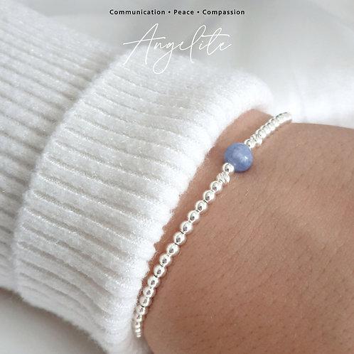 Angelite Crystal Healing Bracelet