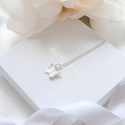 Sterling silver butterfly layering necklace