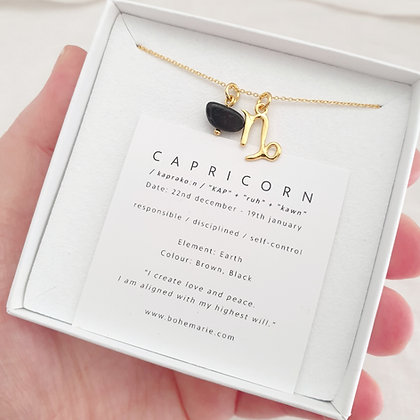 Gold Plated Capricorn Necklace