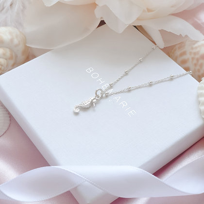 Sterling Silver seahorse necklace for women
