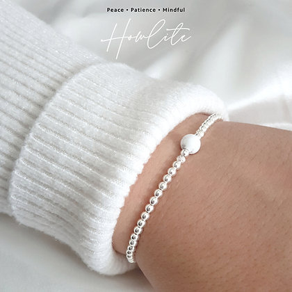 Howlite Crystal Healing Bracelet