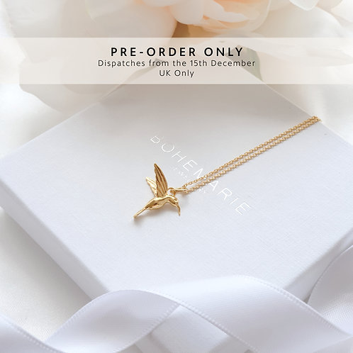 Gold Plated Hummingbird Necklace