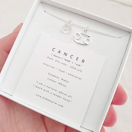 Sterling Silver Cancer Necklace