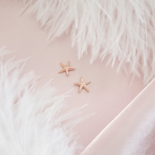 Rose Gold Plated Starfish Earrings
