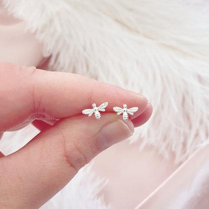 Sterling Silver Bumble Bee Earrings