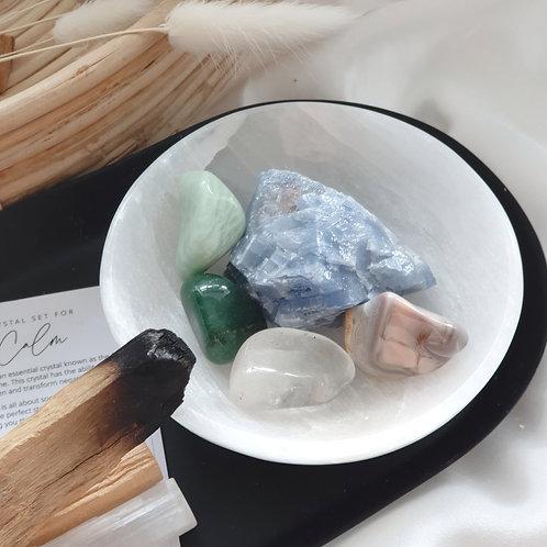 Crystal set for calm
