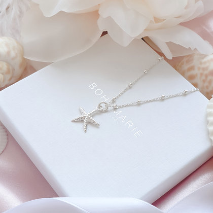 Sterling Silver layering starfish necklace