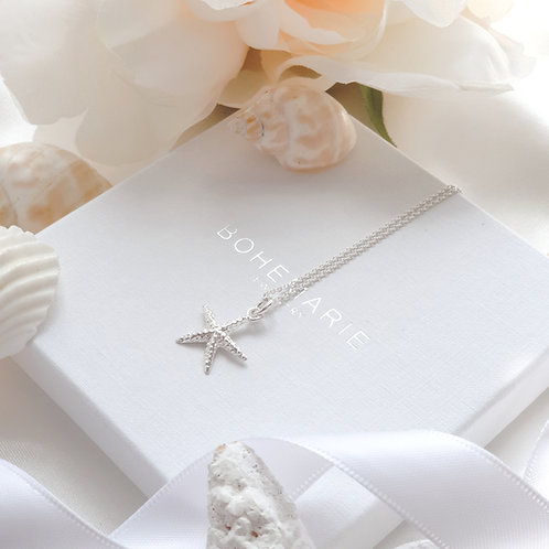 Sterling silver starfish layering necklace