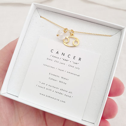 Gold Plated Cancer Necklace