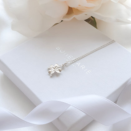 Sterling silver clover layering necklace