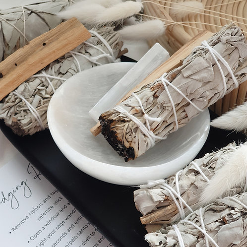 White Sage Smudging Set  - Small