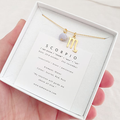 Gold Plated Scorpio Necklace