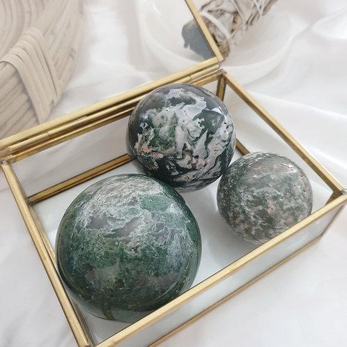 Moss Agate Spheres