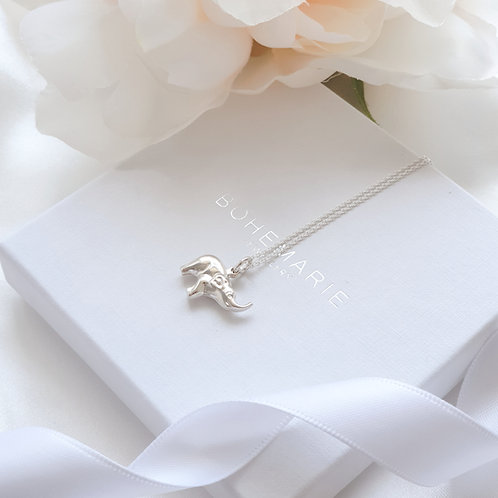 Sterling silver elephant layering necklace