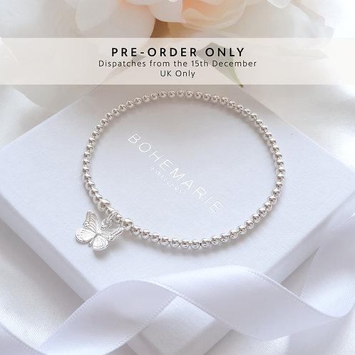 Sterling Silver Mya Mini Butterfly Bracelet
