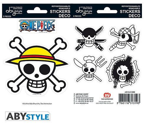 ONE PIECE - Mini stickers Pirates flag - 16x11cm/ 2 planches
