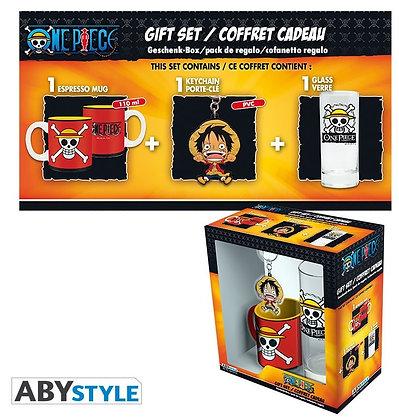 "ONE PIECE - Pck Verre 29cl + KeyringPVC + Mini Mug ""Luffy"""