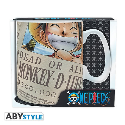 ONE PIECE Mug Luffy Wanted Grand contenant
