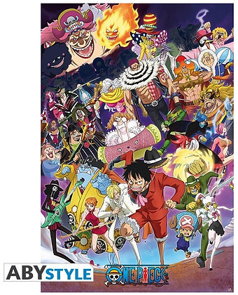 """ONE PIECE - Poster """"Big Mom saga"""" roulé filmé (91.5x61)"""