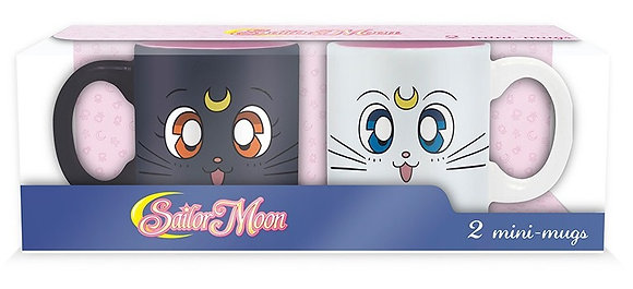 SAILOR MOON Set de 2 mugs à espresso Luna & Artemis