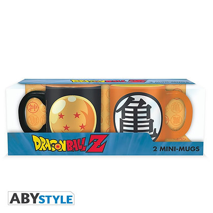 DRAGON BALL - Set 2 mugs à espresso - 110 ml - DBZ/Boule cris.&Kame