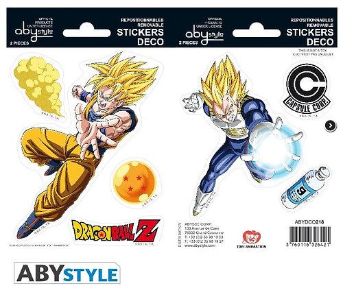 DRAGON BALL - Mini stickers DBZ/ Goku-Vegeta