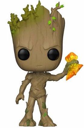 Avengers Infinity War - Movies Vinyl figurine Groot with Stormbreake (POP 416)