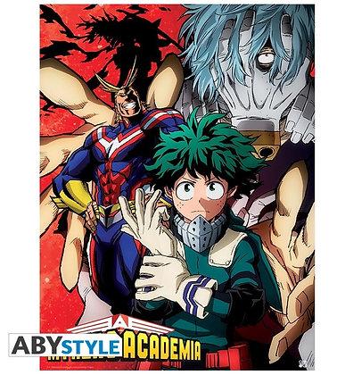 MY HERO ACADEMIA Poster Deku vs Tomura (52 x 38 cm)