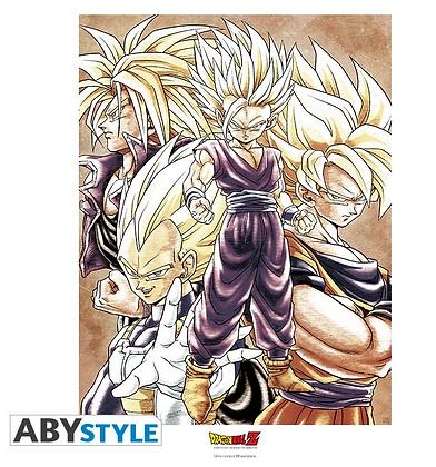 """Dragon Ball Z Collector ArtPrint """"SAIYANS"""""""