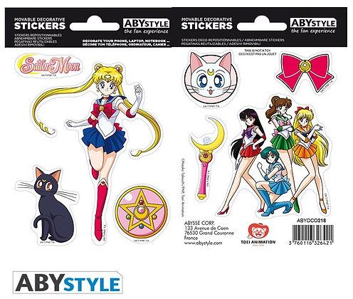 SAILOR MOON - Stickers - 16x11cm/ 2 planches - Sailor Moon