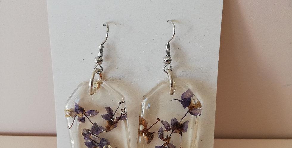 Bcreates Floral resin Earrings