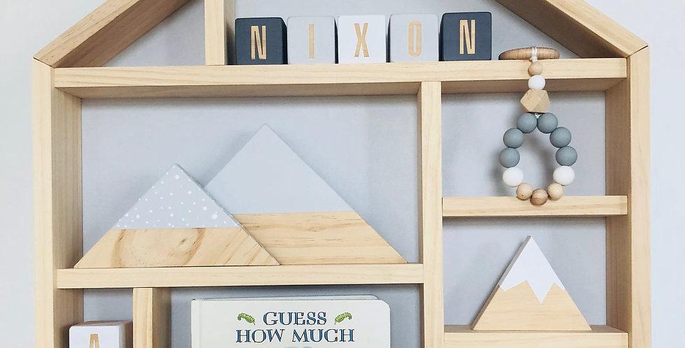 HOUSE SHELF- LIGHT GREY