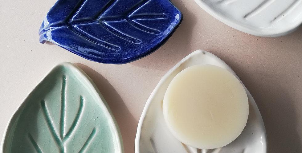 Handmade pottery soap dishes