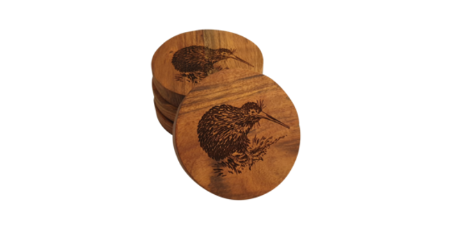 Wooden coaster- Kiwi