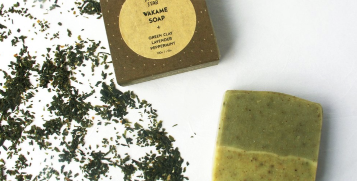 WAKAME SOAP + GREEN CLAY,LAVENDER & PEPPERMINT SOAP