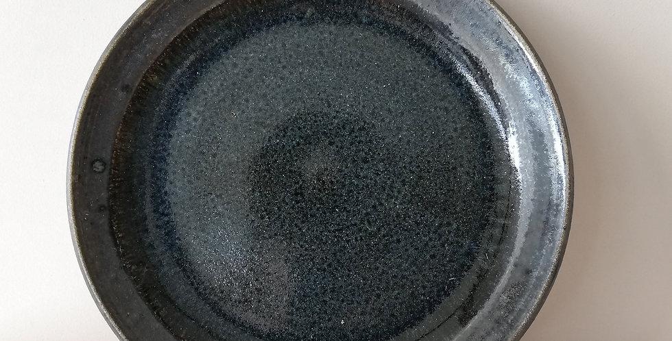 Pottery plate- Blue black