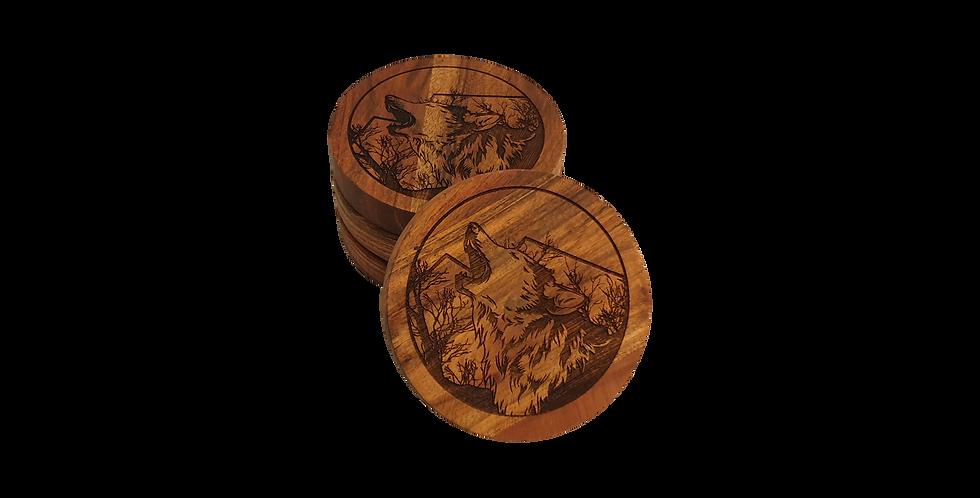 Wooden coaster- Wolf