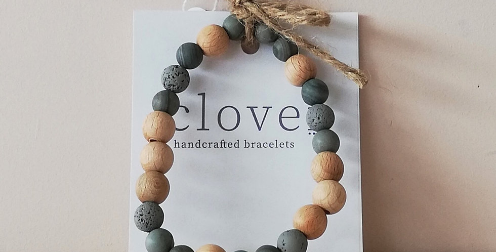 Diffuser Bracelet- Grey/pine