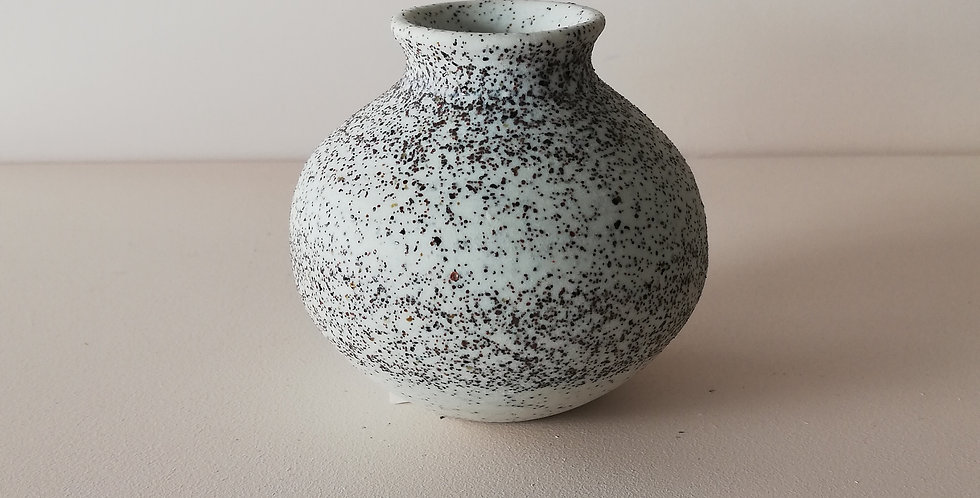 Speckle white small bud vase