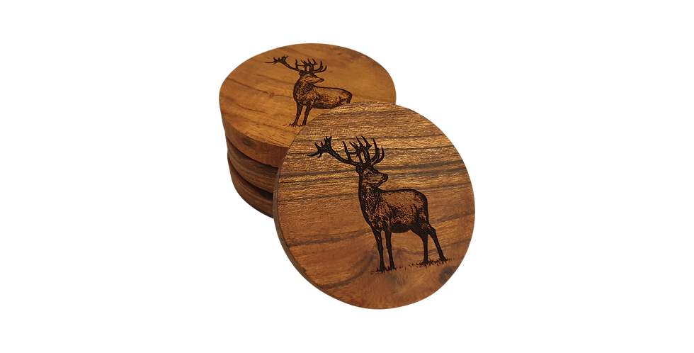 Wooden coaster- Stag