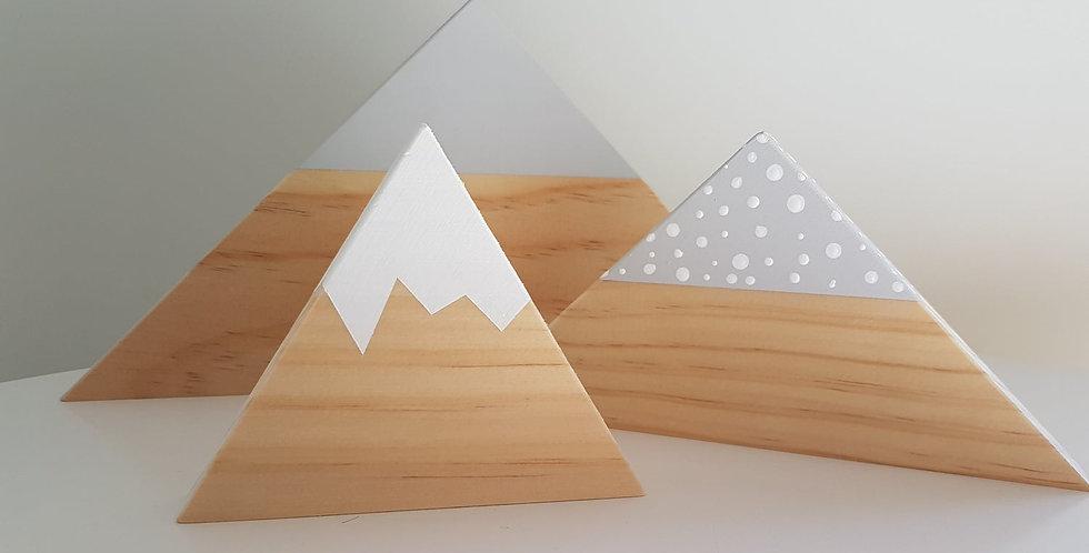 Grey wooden mountain set