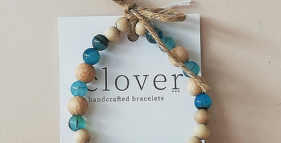 Diffuser Bracelet- Sea blue/ Pine