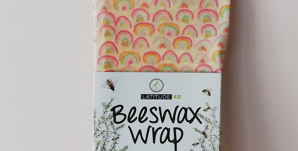 Beeswax wrap Single- Rainbow
