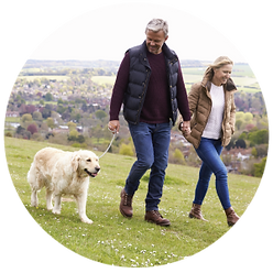 couple walking dog personal taxes